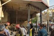 انفجار در ساختمان ۳ طبقه در نسیم شهر