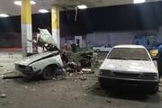 انفجار وانت در جایگاه سوخت حادثه آفرید