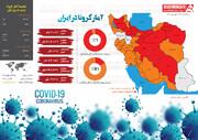 اینفوگرافیک | ۱۲۸ فوتی جدید کرونا در ایران | بستریها، کمتر از ۵۰ درصد مبتلایان