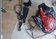 دستگیری شکارچی غیرمجاز و کشف لاشه کل وحشی در شرق تهران