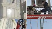 ویدئوی دلخراش از خشک شدن دزد کابل برق در تهران