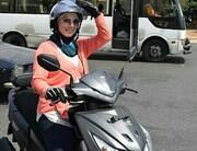 عکس   تاکسی موتوری زنان در لبنان راهاندازی شد