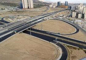 گشایش ترافیکی مهم در تقاطع بزرگراهی غرب تهران