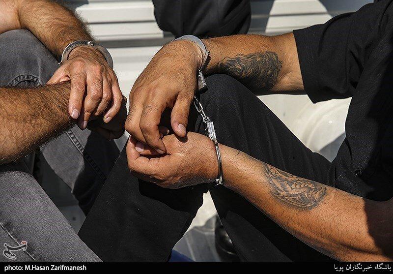 بازداشت اراذل و اوباش در تهران پارس