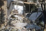 انفجار گاز و تخریب منزل مسکونی در خلخال