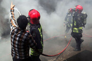 آتشسوزی در شهرک صنعتی اشتهارد