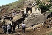 رانش زمین در روستای کرکسر هوراند