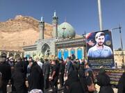 پیکر مادر شهید همت در شهرضا به خاک سپرده شد