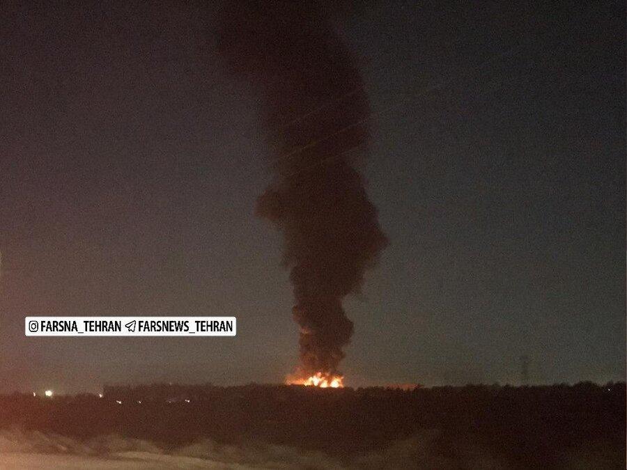 آتش سوزی در کارخانه میهن