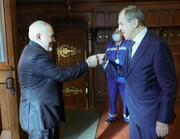 عکس | وزیر خارجه روسیه در تهران با ظریف دیدار کرد
