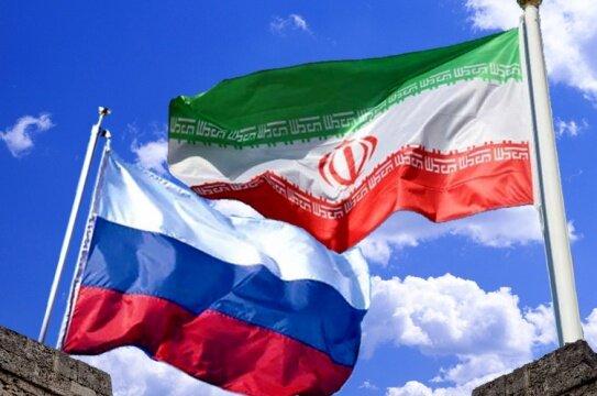 ایران - روسیه - پرچم