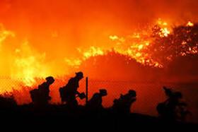 گرمای جهانی عامل گسترش آتشسوزی جنگلی در کالیفرنیا