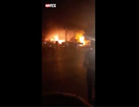 آتش سوزی مرگبار در پمپ بنزین تاکستان