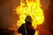 کباب شدن ۳۰ راس گوسفند در آتشسوزی انبار علوفه در شازند