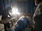 تصویر امیرآبادی پس از سکته در بیمارستان