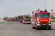 تصاویر   رژه عملیاتی نیروهای آتشنشانی مشهد