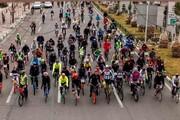 استقبال پرشور اهالی از همایش دوچرخهسواری