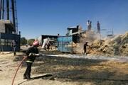 یک انبار علوفهو ادوات کشاورزی در مهاباد سوخت