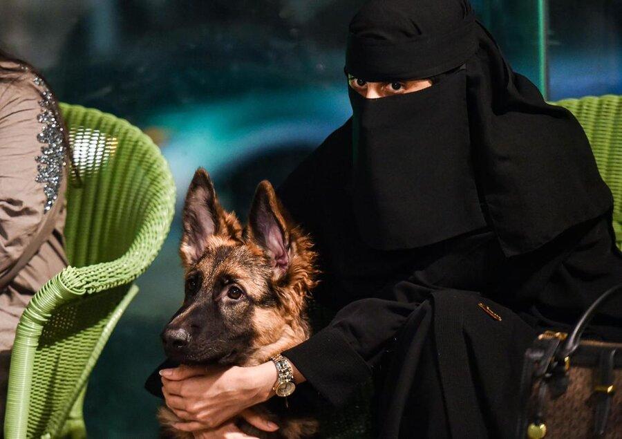 اولین کافی شاپ ورود با سگ در عربستان