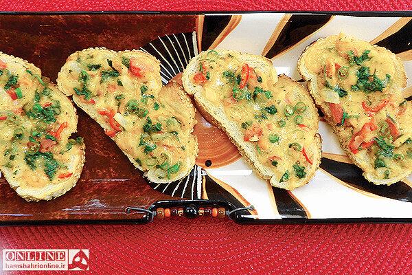 فستفود - پيتزاي پنير فتا با سبزيجات معطر - آشپزي - غذا - تغذيه