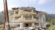 ویدئو | تخریب ویلاهای میلیاردی غیرمجاز در مازندران با بیلمکانیکی