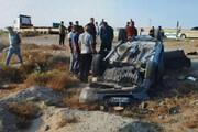 یک کشته و چهار زخمی در واژگونی سواری پژودر گچین