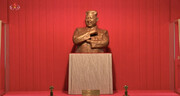 یک خط خبر | تندیس برنزی کیم جونگ-اون؛ هدیه رئیس جمهوری چین به رهبر کره شمالی