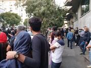 ویدئو | حال و هوای مردم در مقابل بیمارستان جم پس از درگذشت استاد شجریان