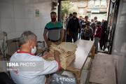 صف نان لواش در ارومیه