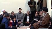 ویدئو | اذان و اقامه رهبر انقلاب در گوش فرزند شهید بلباسی