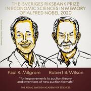 جایزه نوبل اقتصاد ۲۰۲۰ به دو تن از پیشگامان نظریه حراج رسید
