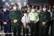 تصاویر | مراسم استقبال از پیکر مطهر پنج شهید در اهواز
