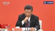 یک خط خبر | سرفههای پیاپی رئیس جمهوری چین در یک سخنرانی زنده تلویزیونی
