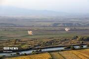 تصاویر | تماشای جنگ قرهباغ در مرز خداآفرین
