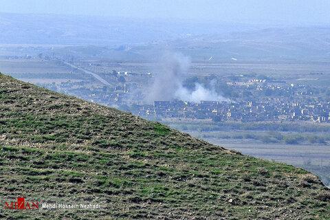 تصاویر درگیری های آذربایجان و ارمنستان در مرز خدا آفرین