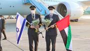 عکس   پرواز نخستین هواپیمای تجاری تاریخ از امارات به اسرائیل