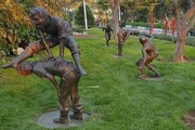 سرقت یک مجسمه از بوستان صدف تبریز