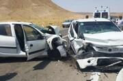 هشت مصدوم در برخورد چهار خودرو در رشتخوار