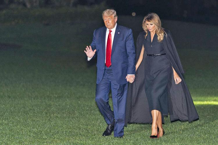 ترامپ و ملانيا در كاخ سفيد