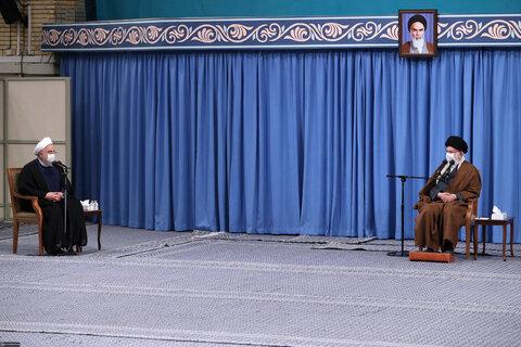 تصاویر دیدار اعضای ستاد ملی مقابله با کرونا با رهبر انقلاب
