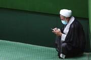 تصویر متفاوت اصلیترین مخالف روحانی در مجلس | گفتگوی درگوشی با میرسلیم و ...