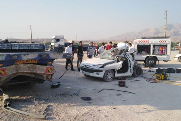 دو کشته در تصادف مرگبار شهرستان دیر