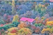 تصاویر | جادوی هزاررنگ پاییز در طبیعت روستای دهبار