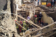ساختمان ۲ طبقه در مشهد فروریخت