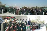 خاکسپاری پیکر شهید مدافع امنیت در وادی رحمت تبریز