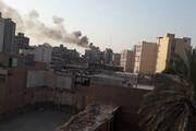 ویدئو | بخشی از ساختمان کادوس چهار در آتش
