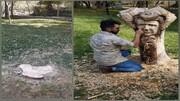 ویدئویی جدید از تندیس شجریان در مشهد که جنجالی شد