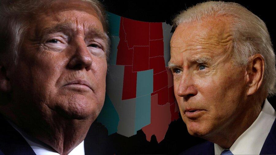 نتایج آخرین نظرسنجیها در آمریکا | وضعیت ترامپ و بایدن در ایالتهای سرنوشتساز