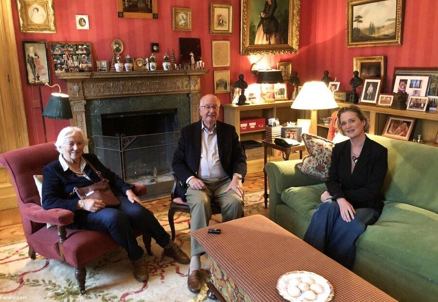 تصاویر | پادشاه سابق بلژیک با دخترش بعد از یک دهه انکار ملاقات کرد