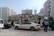 زمینلرزه شدید در دریای اژه باعث فروریختن ساختمانها در ترکیه شد